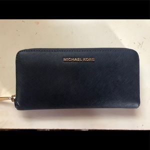 Navy Michael Kors Wallet
